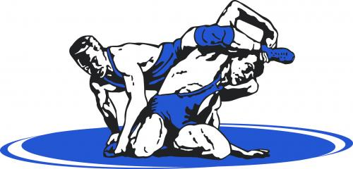 Two men wrestling