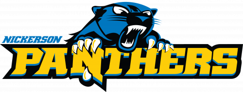 Nickerson logo with panther clawing the N in the word panthers.