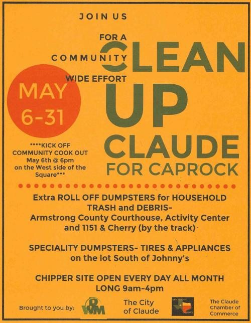 Flyer for Claude Clean Up