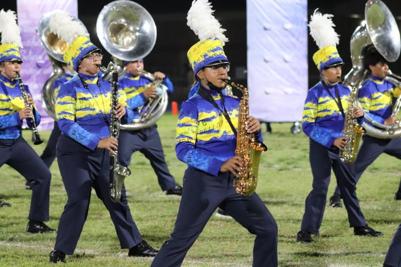 Bearkat Band Earns Division 1 and Advances to the UIL Area Marching Contest