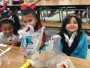 Students enjoying Fun Lunch Bag