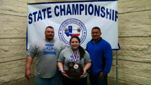 2015-Ladykat Viviana Flores- 2 time 4A Texas HS Women's State Powerlifting Champion SHW Division.