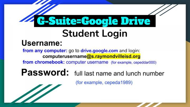 g suite student login info