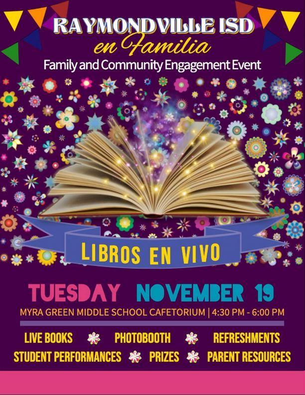 Family Reading Night at Green Jr. High Nov. 19