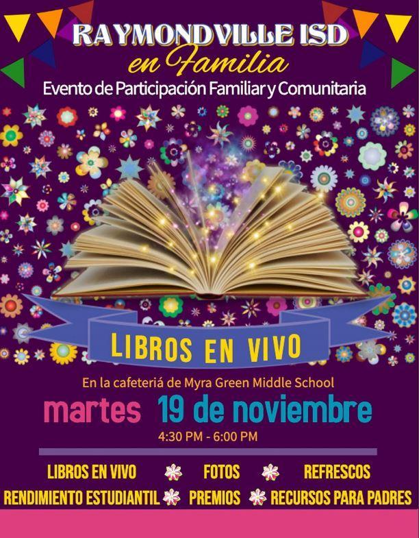 Family Reading Night at Green Jr. High Nov. 19 in Spanish