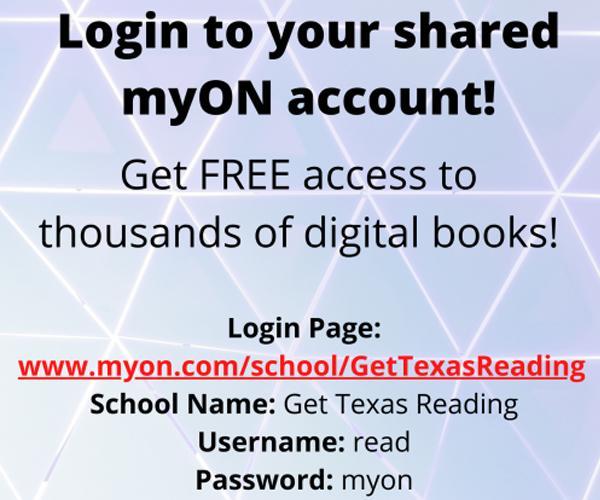 Login to myON account here
