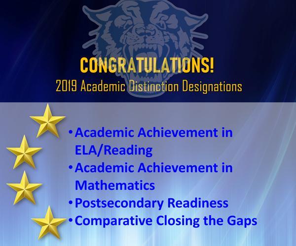 2019 Academic Distinction Designations