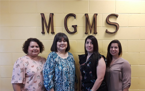 MGMS office Secretaries are shown.