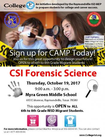 College 1st: Migrant Forensic Science Camp