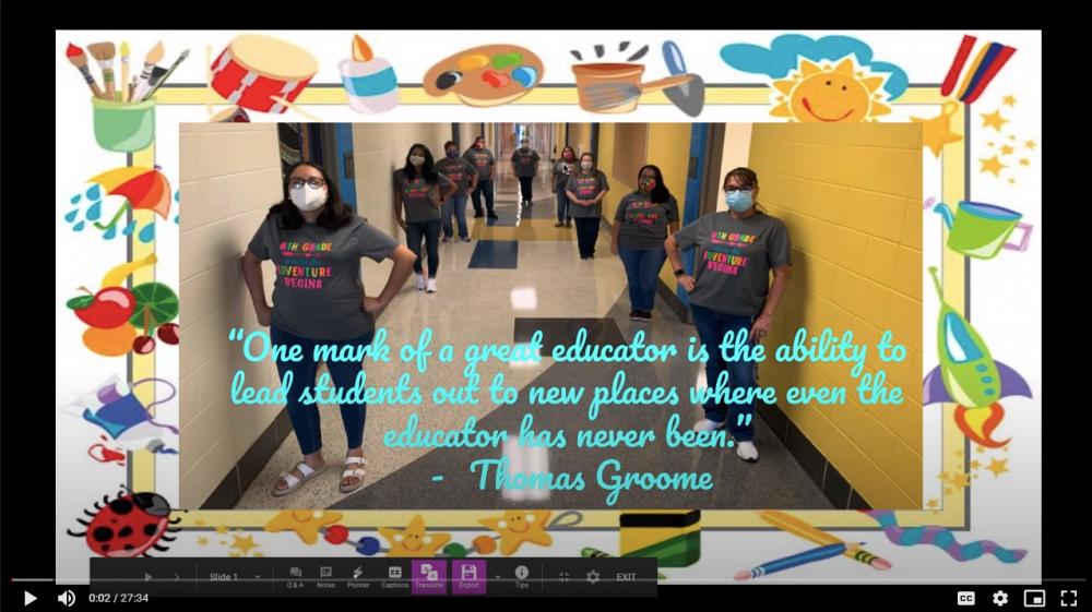 6th grade open house video