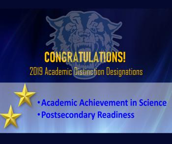 2019 Academic Distinction Designations