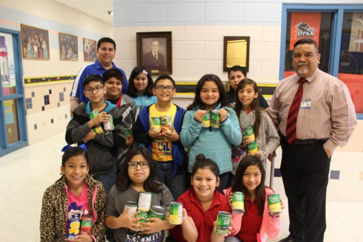 Our CYD after school program participants collected cans for the less fortunate in our county.