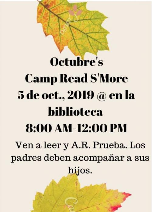 Reading Camp at the library