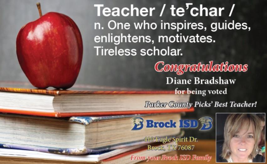 Diane Bradshaw Parker County Picks' Best Teacher