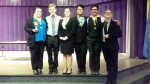 FHS Speech Team at the Arnett Tournament - 3rd place sweepstakes trophy and 6 qualifications for regionals.