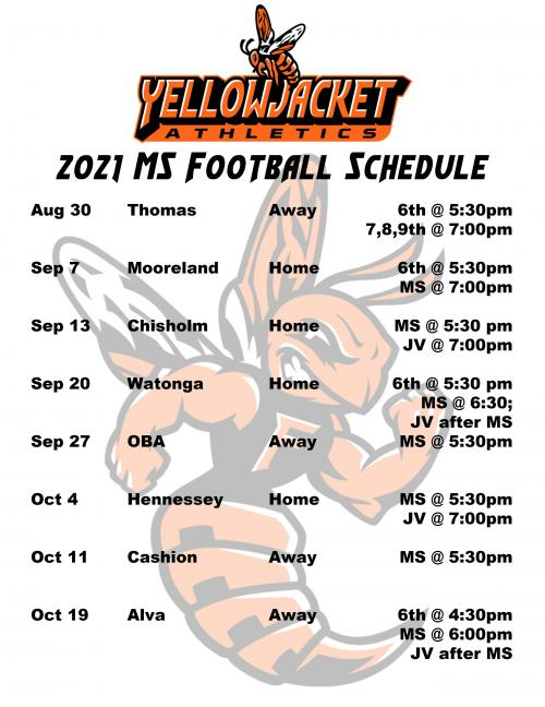 MS Football Schedule