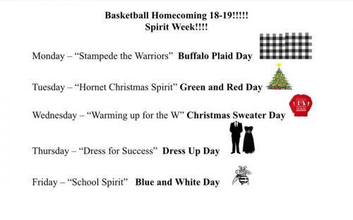 18-19 Basketball HOCO Spirit Week