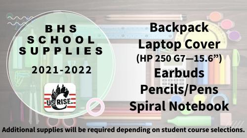 High School Supply List