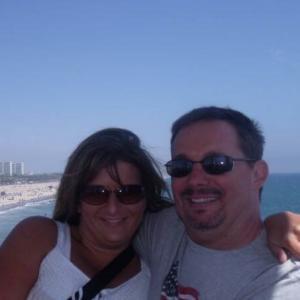 Me and my husband John at Santa Monica Pier in California