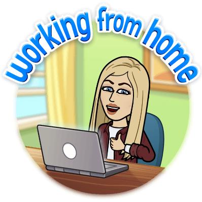 Working at home bitmoji