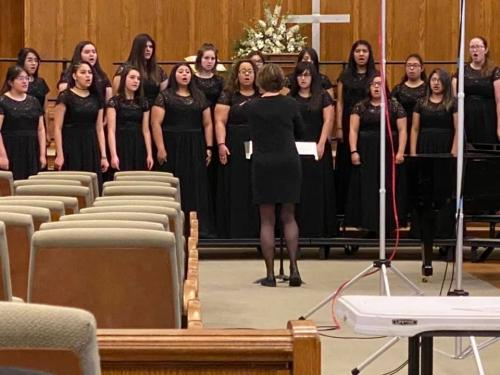 BHS Treble Choir performing at UIL