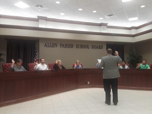 AP District Attorney Todd Neasom swears in board