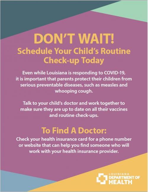 child wellness flyer