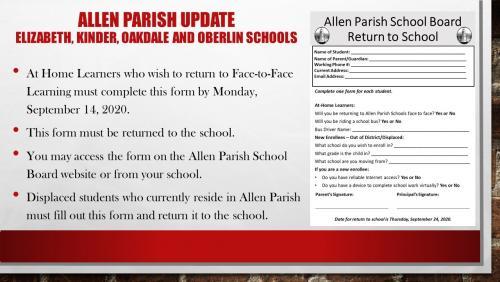 EHS, Kinder, Oakdale and Oberlin Schools