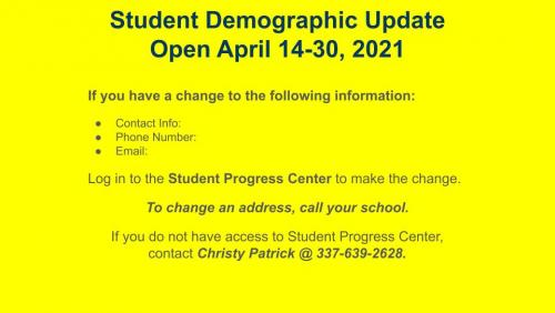 Student Demographic Update
