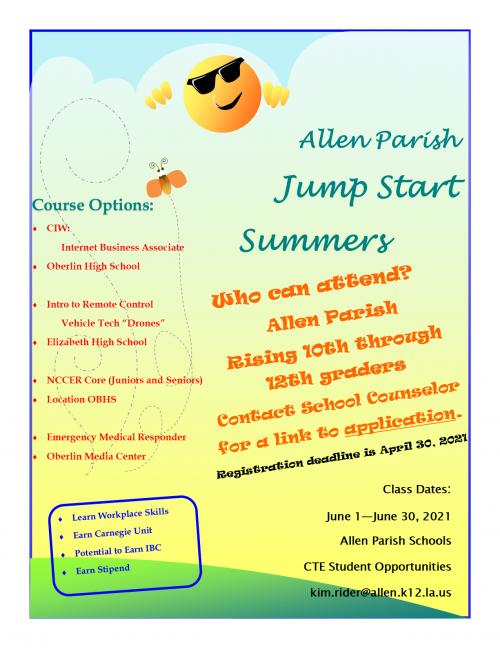 Jump Start Summer Flyer