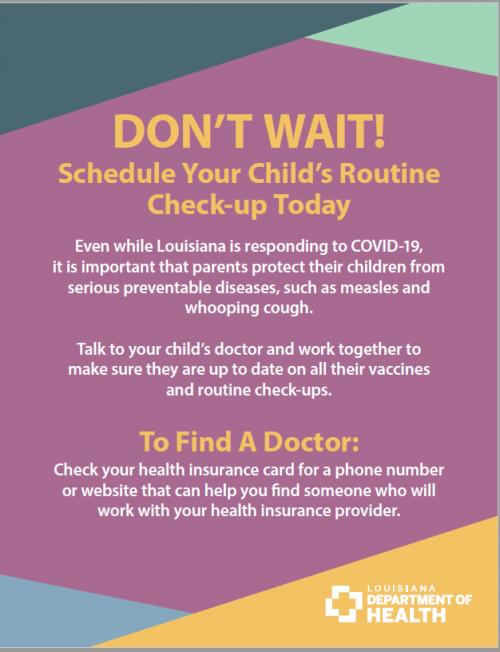 Department of Public Health Flyer