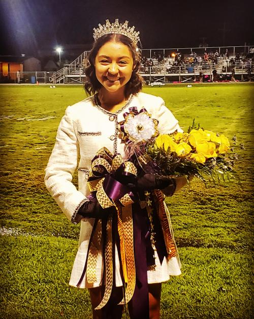 2020 Homecoming Queen Arianna Victorian