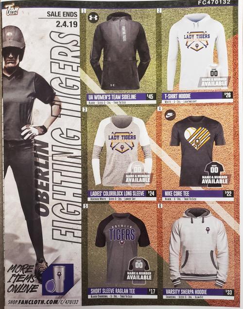 Fan Cloth fundraiser catalog - front