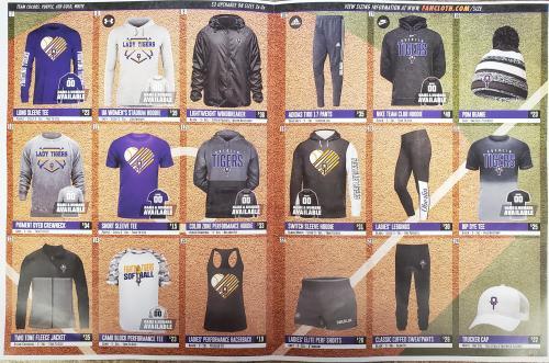 Fan Cloth fundraiser catalog - INSIDE
