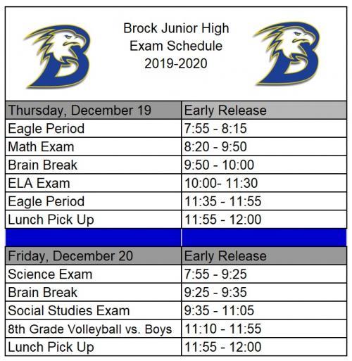 Fall Exam Schedule 2019