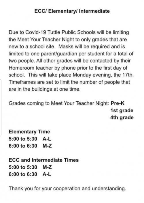 MEET THE TEACHER PREK ONLY