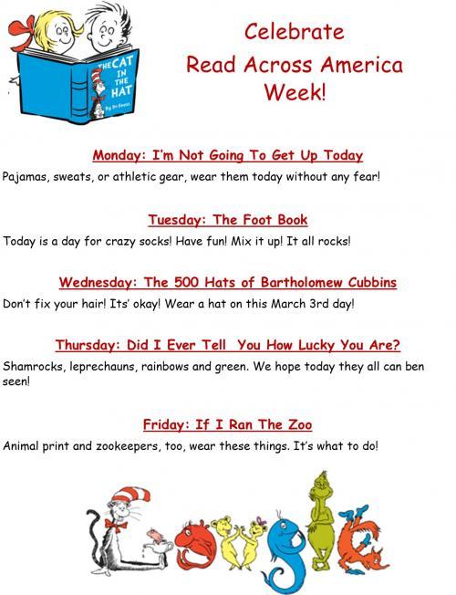 Ce;ebrate Read Across America Week ECC