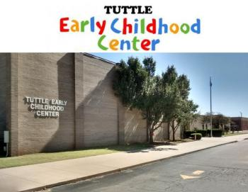 front of the Tuttle Early Childhood Center Building and Logo image