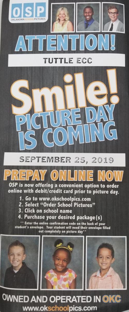 Tuttle ECC picture day September 25