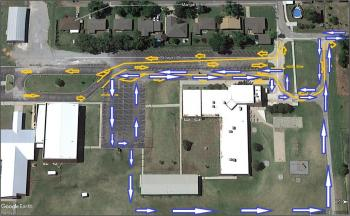 Traffic Map for the Tuttle Early Childhood Building  Pick Up Image