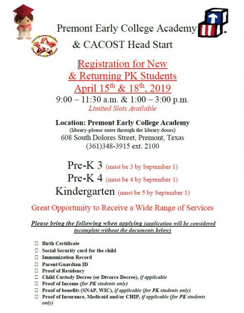 CACOST Registration