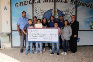 Grulla Middle School $1,000.00