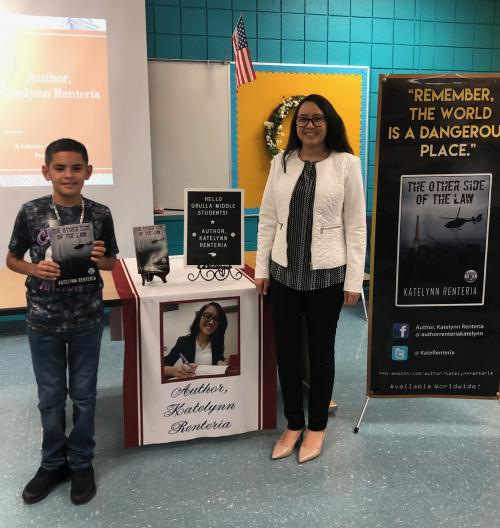 Katelynn Renteria visited Grulla Middle School