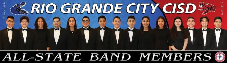 RGCCISD All-State Band Members