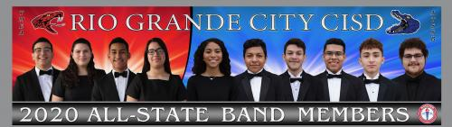 2020 rgccisd all-state band members