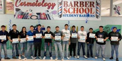 Barbering students
