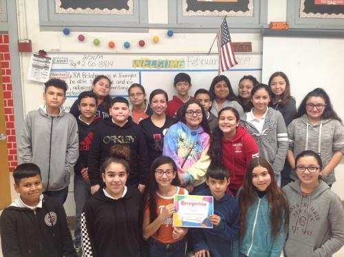 GMS Perfect Attendance Ms. V. Rivera
