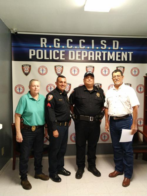 We would like to Congratulate Mr. Marco Rueda on his Swearing In that took place today, June 10, 2019 Welcome aboard to the RGCCISD Police/ Security Department family. We are very happy to have him as part of our team.
