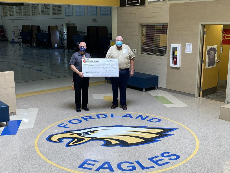 The Seymour Bank's Eagle Card Donation