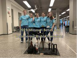 Beta Club Engineering Team takes 1st Place at State